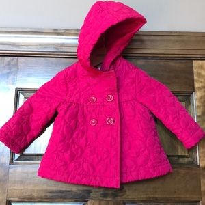 Gymboree pink quilted jacket 12-24 mos